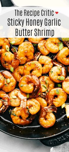 healthy shrimp recipes Sticky Honey Garlic Butter Shrimp are coated in the most amazing sticky honey garlic butter soy sauce. This is a quick 20 minute meal that you will make ag Quick Shrimp Recipes, Shrimp Recipes For Dinner, Garlic Recipes, Seafood Dinner, Seafood Recipes, Asian Recipes, Cooking Recipes, Food With Shrimp, Buttered Shrimp Recipe