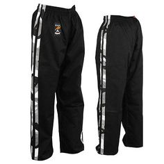 #Playwell black / 2 #camou stripes full contact #trousers bottoms pants kick boxi,  View more on the LINK: http://www.zeppy.io/product/gb/2/321485343706/