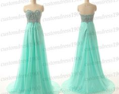 Sweetheart bridesmaid dresslong mint wedding by customdress1900