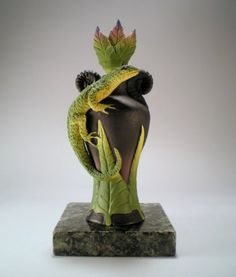 Lone  Lizard Perfume Bottle by Nancy Y. Adams $120