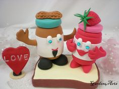 Custom Peanut Butter and Jelly Love Wedding Cake...only because our initials are PB & J