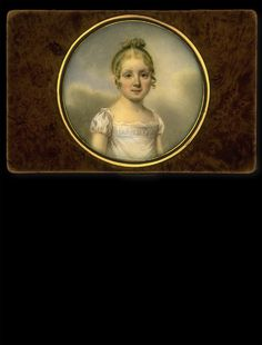 Claude Jean Besselièvre, Girl in front of a Cloudy Sky, ca. 1815
