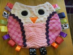 Owl Taggie--I like the chenille and minkie for added texture and sensory stimulation!: