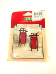 1986 Lemax Christmas Winter Snow Set of 2 54104 Village Collection Sleds