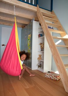 Coolest Hammocks ever! A list of the 20 coolest hammocks and it's got everything from an outdoor cage hammock, to an indoor hanging seat hammock, to a kayak hammock, to a tent hammock, to a. wait for it. Kids Hammock, Hammock Tent, Hanging Hammock, Indoor Hammock, Kids Swing, Pouf Design, Bedroom Nook, Swing Seat, Baby Swings