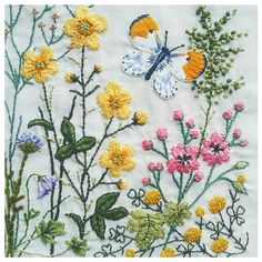 Just finished my wildflower embroidery! (right section) #embroidery…