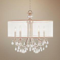 "Hampton Collection 24"" Wide Chandelier - 550.00 lamps plus - favored so far"