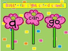 Butterfly Sight Word Wands