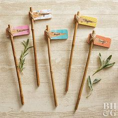 Gartenschilder Step up your plant-marker game with these fun DIY plant markers for the cutest way to