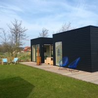 Prefab Homes, Time Travel, Coffee Shop, Netherlands, Modern Design, Deck, Camping, Outdoor Decor, Holiday