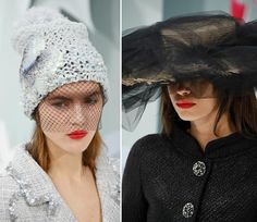 Spring 2015 Couture Accessories: Chanel Couture Spring 2015 Headwear  #headwear #hats