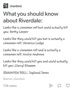 Riverdale - Archie Andrews, Betty Cooper, Veronica Lodge, Jughead Jones, and Cheryl Blossom - mine