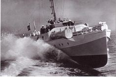"""E-boats (German: Schnellboot, or S-Boot, meaning """"fast boat"""") was the designation for fast attack craft of the Kriegsmarine during World War II. The S-boat was a very fast vessel, able to cruise at 40 or 50 knots, It was better suited to the open sea and had substantially longer range (approximately 700 nautical miles) than the American PT boat and the British Motor Torpedo Boat (MTB). As a result, the Royal Navy later developed better matched versions of MTBs using the Fairmile 'D' hull…"""