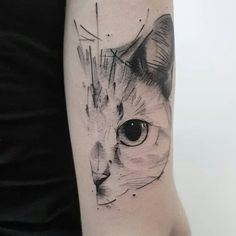 In this post, you get different cat tattoo ideas. So here are some cool Cay Eye Tattoo Designs which you definitely loved. Cat Face Tattoos, Animal Tattoos, Body Art Tattoos, Sleeve Tattoos, Cool Tattoos, Tattoo Cat, Tatoos, Cat Paw Print Tattoo, Cat Tattoo Designs