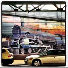 Mural under the tracks at the Manayunk Train Station #mnyktakeover #cressonst #manayunk #philly #mnyk #trains #mural