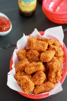 Sweet Potato Parmesan Tater Tots with Spicy Sriracha Ketchup | Half Baked Harvest