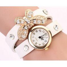 Relógio Pulseira Borboleta Brilhante