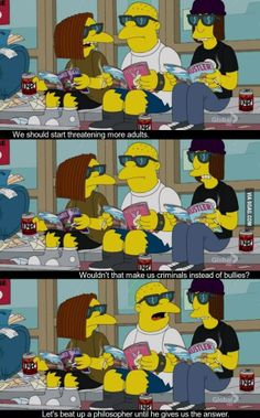 The Simpsons on bullying