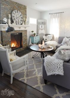 How to Create a Cozy, Hygge Living Room this Winter | The DIY Mommy