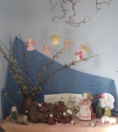 Tutorials on the blossom fairies, dandelions, etc she uses on her nature table.