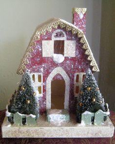 Christmas putz village barn