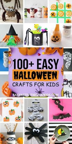 Top 100 Easy and Creative Halloween Crafts for Kids!