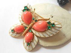 Vintage Trifari L' Orient series butterfly brooch