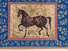Horse composed of people, 17th c., Mughal/Deccan school, Golconda. (Source)