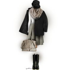 Taupe & Black by cynthia335 on Polyvore featuring Rick Owens, Stella Jean, Dooney & Bourke, Chicnova Fashion and Betmar