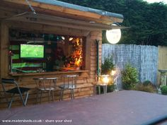 Pub/Entertainment from Back garden owned by Lili James |  #shedoftheyear