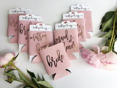 Rose Gold Bridesmaid Proposal - Bridesmaid Gifts - Dusty Rose Can Cooler - Bachelorette Party Favors - Bridal Party Gifts - Bachelorette Party - Bachelorette Party: Funny Gifts & Games - Wedding Party Bachlorette Party, Bachelorette Party Decorations, Bachelorette Weekend, Destination Bachelorette Party, Bachelorette Bride Gifts, Bachelorette Supplies, Bachelor Party Favors, Bachelorette Party Invitations, Bachelorette Parties