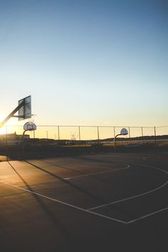 basketball court might be a great starting point for Alex's collection. Sunny, bright sunlight with harsh  pop up flash