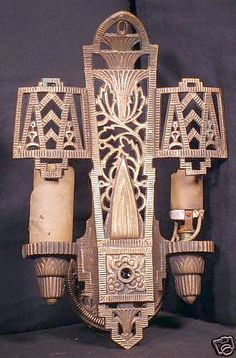 Art Deco wall sconce I did not win on eBay.