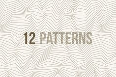Check out Line and Wave Patterns by magnia on Creative Market