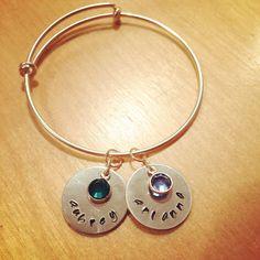 Stamped bangle bracelet  Www.facebook.com/lastingimpressionshandstampedjewelry  #lastingimpressions #handstampedjewelry