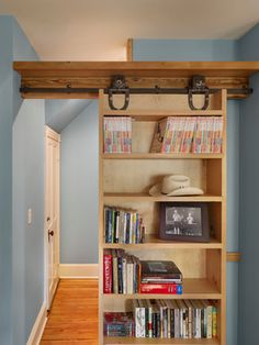 Sliding Bookcase Design Ideas, Pictures, Remodel, and Decor - page 4