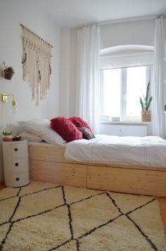 Make it boho : DIY | Minimalistisches Stauraumbett