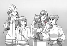 Sasuke, Neji And Tenten, Naruto And Hinata, Naruto Uzumaki Shippuden, Naruto Cute, Shikamaru, Uzumaki Family, Naruto Family, Naruto Couples