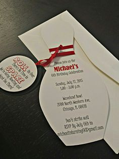 Bowling Party Invitation Bowling Pin by AmiraDesignEvents on Etsy                                                                                                                                                                                 More