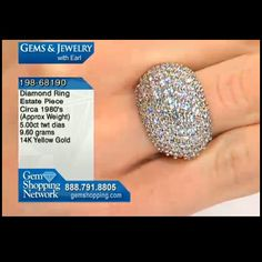 Diamond dome ring with over 5cts of diamonds in yellow gold from our estate jewelry collection, such a classic shape.