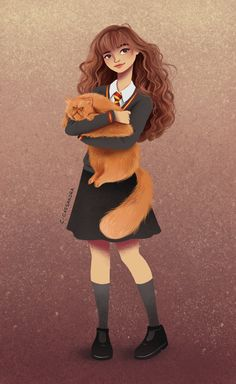 Hermiona and her cat