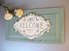 shabby chic welcome image - Google Search