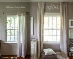 Curtain designs for small windows fancy short curtains for bedroom windows and best small window curtains High Curtains, Small Window Curtains, Elegant Curtains, Curtains Living, Tab Curtains, Bedroom Curtains, Hanging Curtains, Floor To Ceiling Curtains, How To Hang Curtains