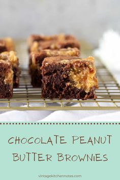 Incredibly gooey and delicious, this brownie recipe has a peanut butter swirl that takes these little morsels up a million notches! Chocolate Peanut Butter Brownies, Chocolate Cookies, Chocolate Desserts, Brownie Recipes, Cheesecake Recipes, Dessert Recipes, Baker And Cook, Kitchen Notes, Baking School