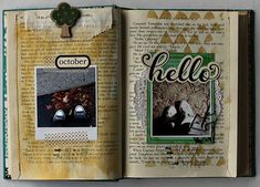 Cool idea of using an old book as a scrapbook.