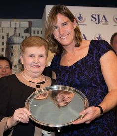 Dame Di Ellis and Dame Katherine Grainger - two legends together
