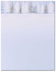 Free printable christmas letterhead templates christmas photo winter treeline letterhead spiritdancerdesigns Images
