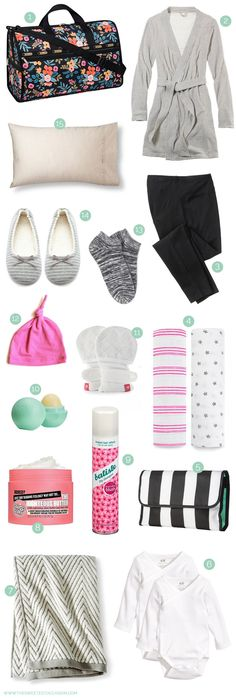 See what I'm packing in my hospital bag and share your hospital bag essentials at The Sweetest Occasion