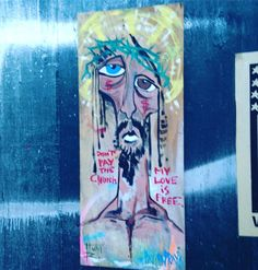 "3 Likes, 3 Comments - Brooklyn Graffiti Tour (@brooklyn_graffiti_tour) on Instagram: """"Dont pay the church - my love is free"" By Hunt Rodriguez  @huntrodriguez  #art #paint #artist…"""