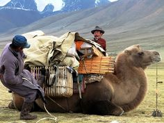 Mongolian nomads moving to the winter camp by rcateni, via Flickr